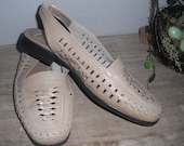Vintage tan WOVEN leather Sling back Huaraches Size women's 7