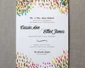 Wedding Invitation Suite - Watercolor - Secret Garden