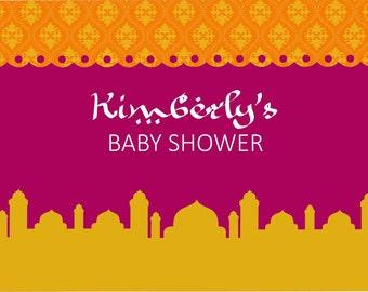 Moroccan Baby Shower Printable Backdrop