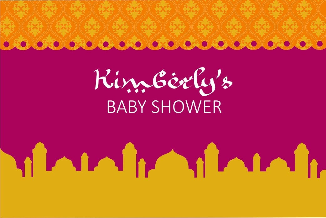 moroccan baby shower printable backdrop