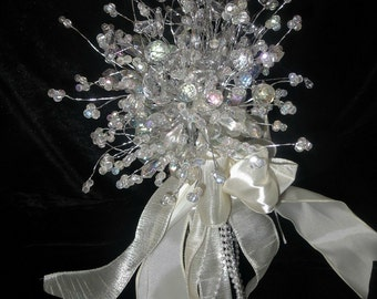 crystal Bridal Wedding Brooch  Crystal bouquet, Brides Maids   wedding bouquet,,bridesmaid bouquet, wedding  crystal Bouqet