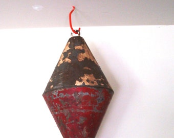 Vintage Extra Large Red and White Boat Float