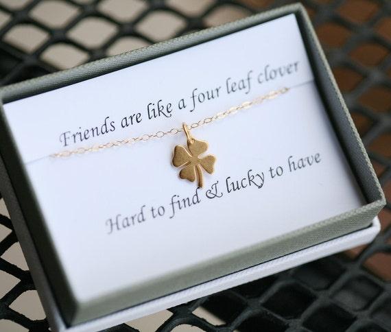 Four Leaf Clover Necklaceshamrock By Tyrahandmadejewelry