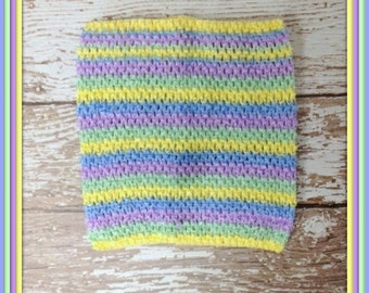 "Extra Large 10"" Crochet Tutu Tube Top - Pastel Stripes"