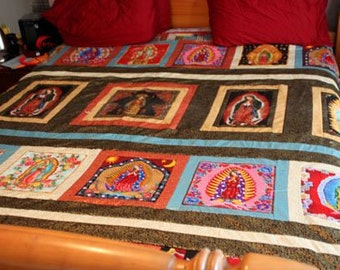 Virgin de Guadadupe Thow Quilt custom order yours today