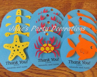 12 Under the Sea thank you favor tags