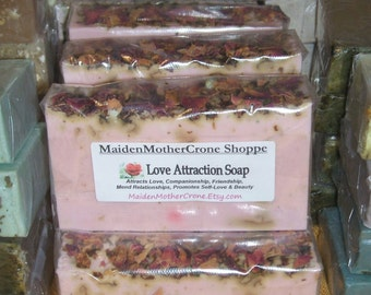 True Rose Love Scented Soap Jabon Wicca Pagan Spirituality Religion Ceremonies Hoodoo Metaphysical MaidenMotherCrone