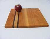 Square Cutting Board Trivet Serving Tray.  12 Inch.  Maple or Cherry.  Free Shipping