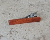 Pao Rosa Wood Tie Clip, Real Wood Tie Bar, Great Gift For Men - 015