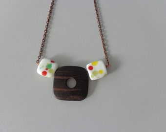 Geometric bubbles chunky necklace