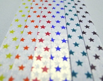 STARS - Glow in the Dark Pure Shimmer Origami Lucky Star Paper Strips (Complete set of 6 at price of 5)