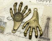 5 pcs Antique brass round Cabochon Pendant Base (Fit Cabochon 14mm), hand Pendant findings