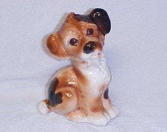 Royal Copley  Terrier Pup  Vintage Dog Figurine Pottery 1940's