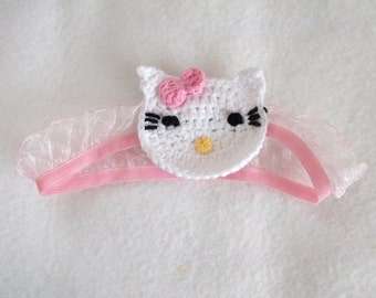 Kitty headband from newborn sizes