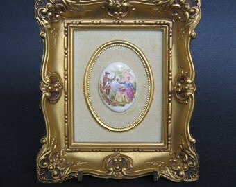 Gilt Framed Cameo Picture