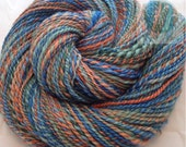 SALE Hand Spun Blue Faced Leicester Paradis Flower Yarn 180 yards