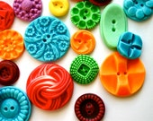 Edible Vintage Candy Buttons - 50 Fruit Tart (Yum) Flavored Candy Buttons - Colorful