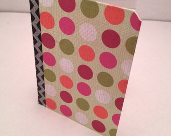 Small Notebook with Multicolor Dot Pattern