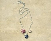 Pearl Flower Necklace // Sterling Wire Wrapped Freshwater Pearls