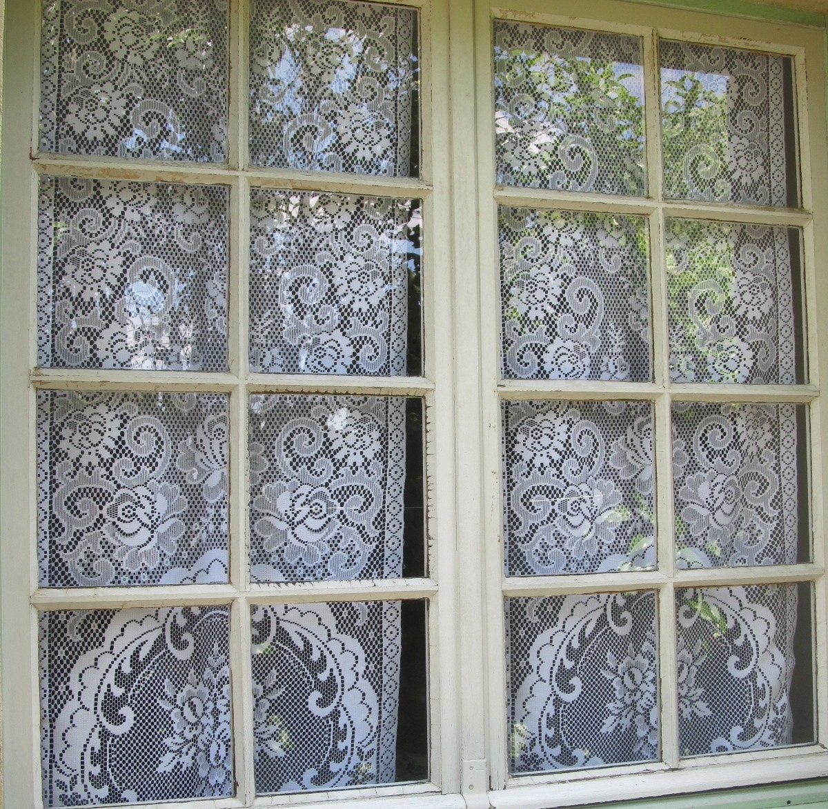 Lace curtains french door curtains floral window curtains for French door panels