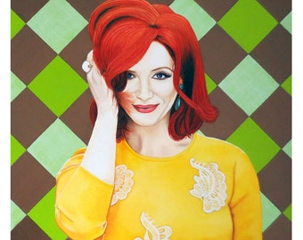 Colour Inspired Beauty - Portrait Painting - By Mixed Media Artist Malinda Prud'homme