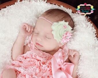 Newborn Lace Romper, Baby Girl Lace Petti Romper, Pink Romper, Newborn Romper, Photo Prop, Baby Romper, Ruffle Romper Set, Newborn Outfit