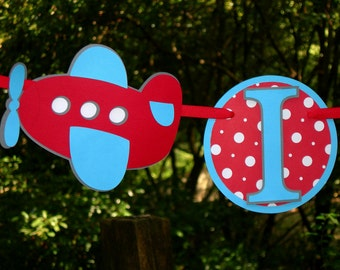 I am 1 Airplane Birthday Banner MADE TO ORDER
