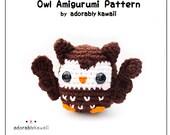 Owl Amigurumi Crochet Pattern, Bird Amigurumi Pattern, Owl Nursery Toy, PDF Animal Crochet Pattern, Baby Crochet Pattern, DIY Cute Owl Doll