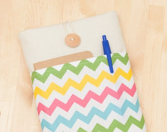 ipad mini sleeve / ipad mini cover / ipad mini case - colorful chevron  -
