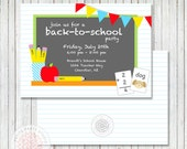 Back to School Printable Party Invitation - Petite Party Studio