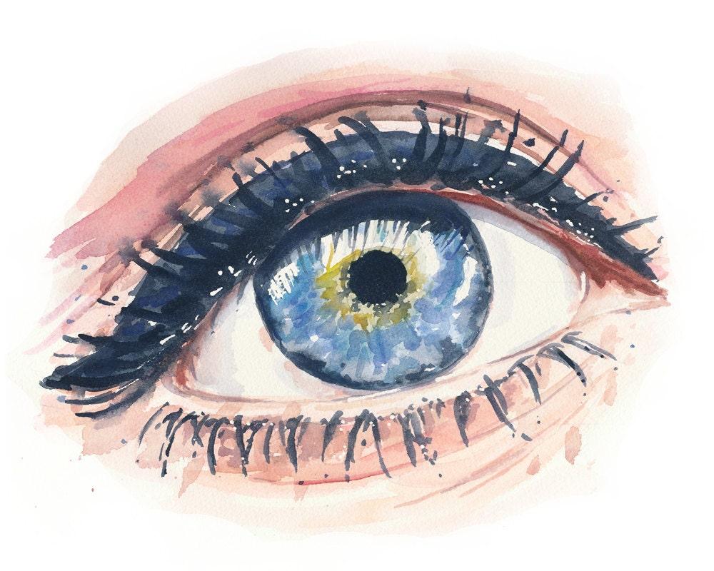 Eye Painting Watercolor Original Watercolour