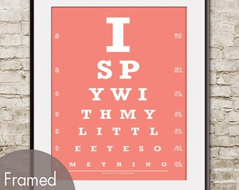 I Spy with My Eye Something (Eye Chart) Art Print (Featured in Coral Rose) Buy 3 Get One Free