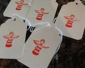 Xmas Angel Gift Tags - Handmade
