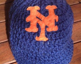 Newborn baby New York Mets baseball hat