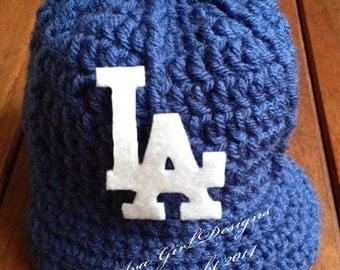 Los Angeles Dodgers baby baseball cap, LA Dodgers hat, Dodgers baby cap, baseball photo prop