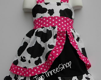 Cow peekaboo Jumper Dress
