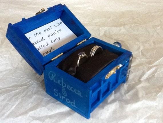 Tardis Wedding Ring Box With Led Light Handmade Enement