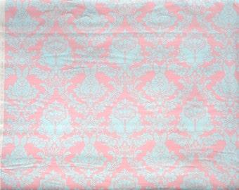 Tula Pink Hushabye Bunny Damask pink/aqua moda fabric FQ or more