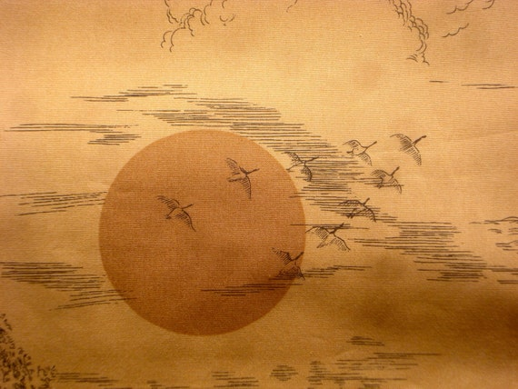 "Alexander Henry ""harvest moon"" fabric golden brown 2004 3/4 yard or more"