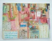 Abstract Oil Painting Impasto: City on a Hillside