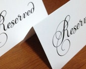 Very Simple Reserved Signs, you choose quantity, reception, wedding, white, ivory, simple, tented