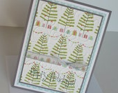 Christmas Greeting Cards:  Handmade Blank Note Card - Happy Holidays