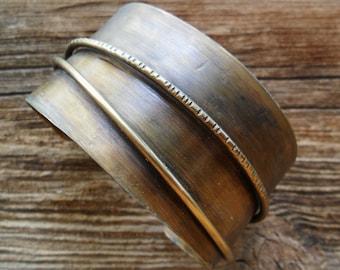 Brass Wire Cuff Bracelet