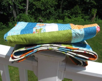 Reversible Riviera Quilt ~ Picnic Perfect!