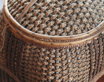 Vintage Sewing Basket -- Satin Lining