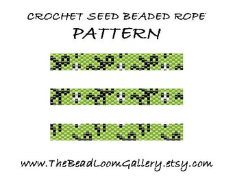 Beaded Rope Pattern - PDF File - Crochet Seed Beaded Rope - Vol.28 - Soccer