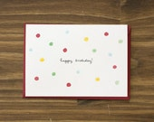 birthday confetti red card