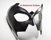 Nightwing Superhero Black Leather Mask Fetish Masquerade Batgirl Batman Robin Comic Con Dragoncon Supercon Halloween Costume - Unisex