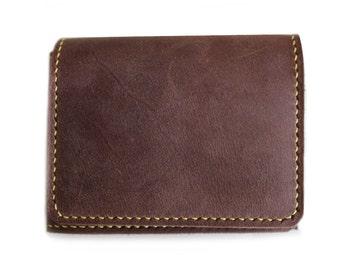 Hand stitched billfold mens wallets