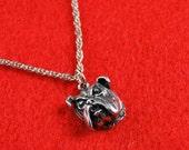 Georgia Bulldog charm necklace silver